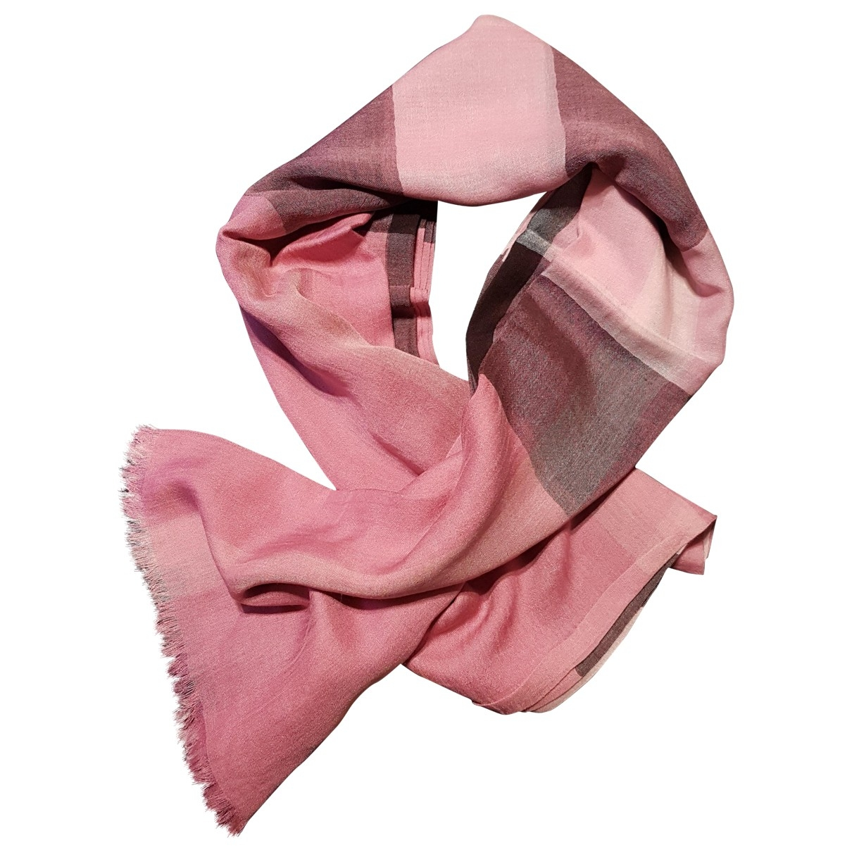 Burberry \N Pink Silk scarf for Women \N