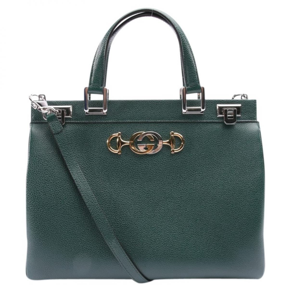 Gucci - Sac a main Zumi pour femme en cuir - vert