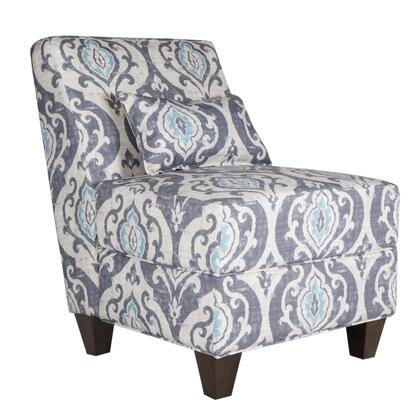 BM194023 Fabric Upholstered Wooden Armless Accent Chair with Toss Pillow