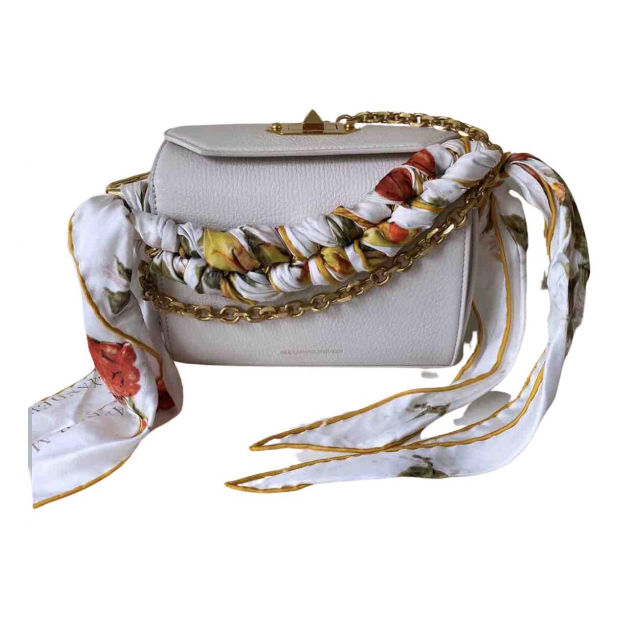 Alexander Mcqueen Box 19 White Leather handbag for Women N
