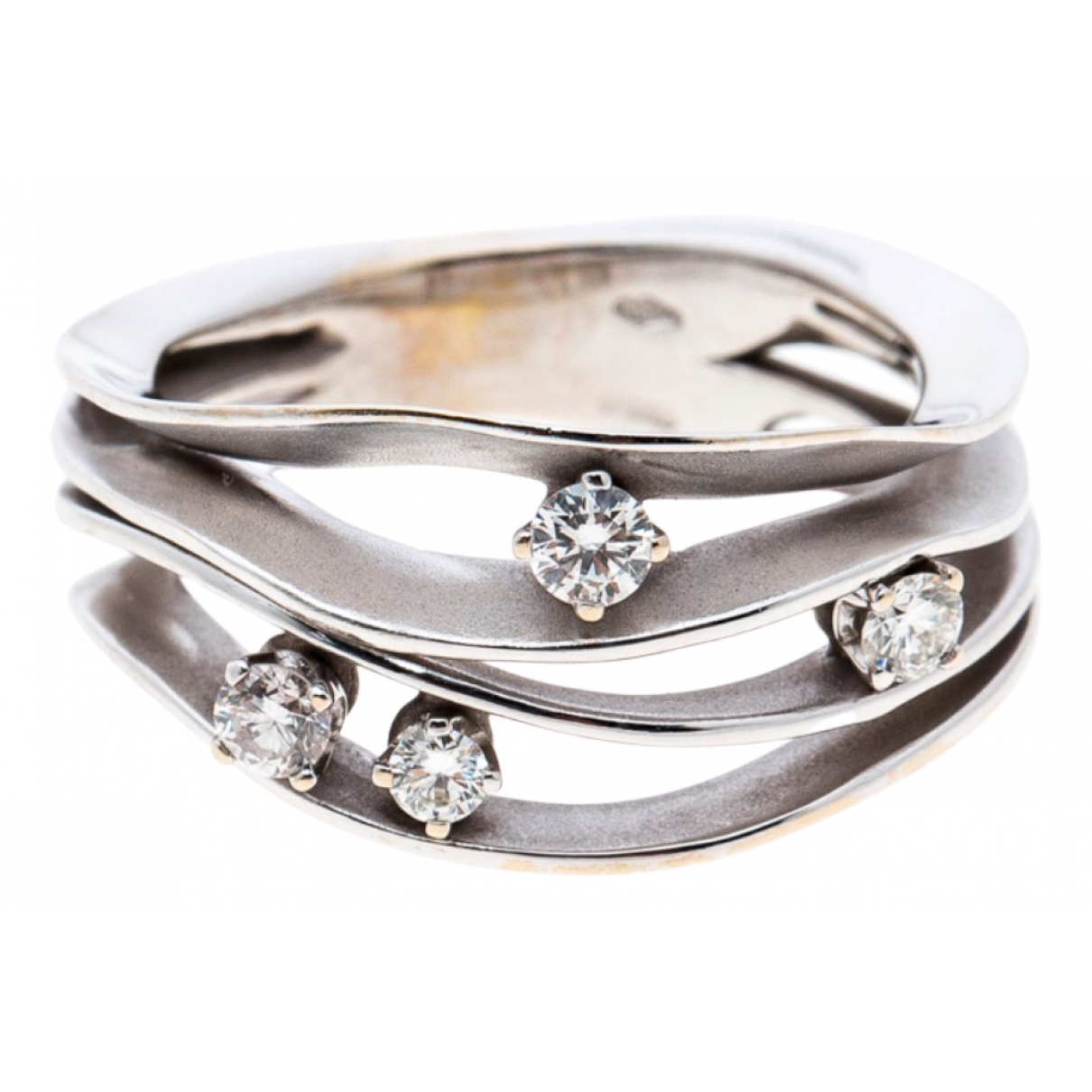 Non Signé / Unsigned \N Silver White gold ring for Women 6 ¾ US