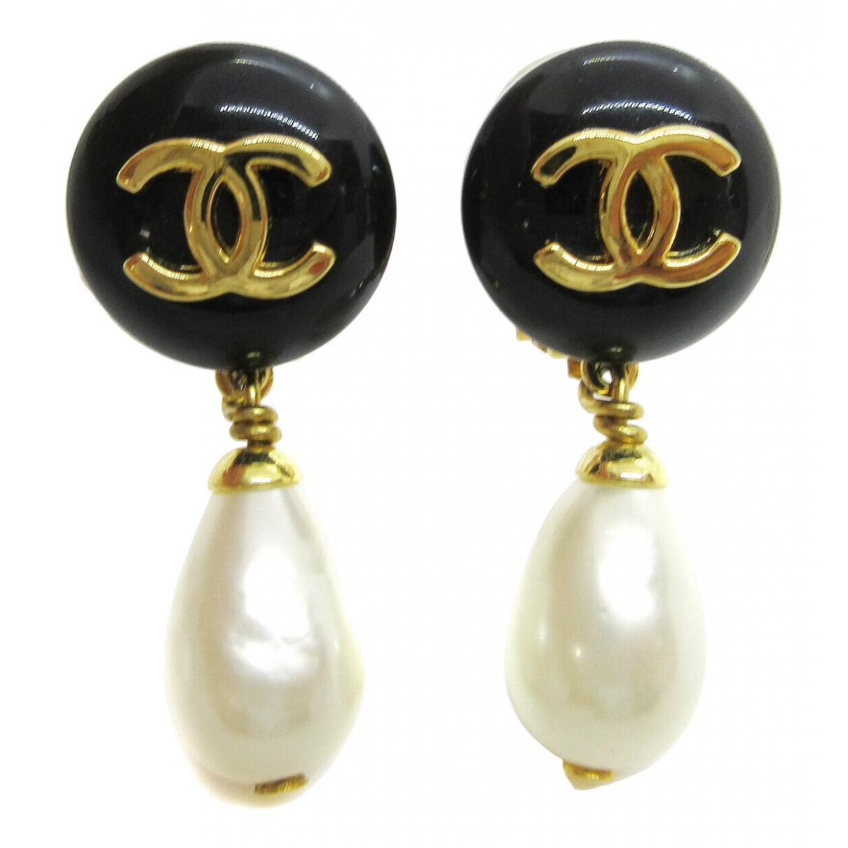 Chanel - Boucles d'oreilles CC pour femme en autre