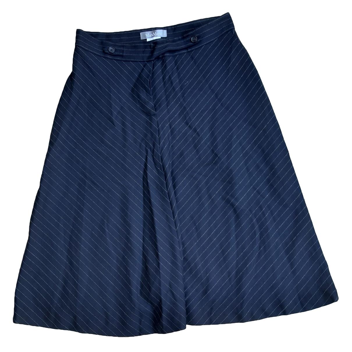 Max Mara - Jupe   pour femme en laine - bleu