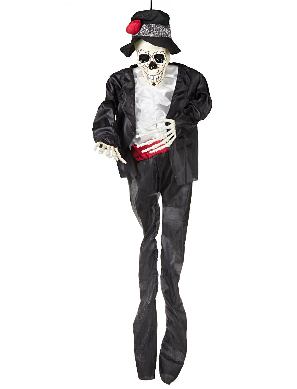 Skelett im Anzug zum Aufhaengen 90cm Farbe: schwarz