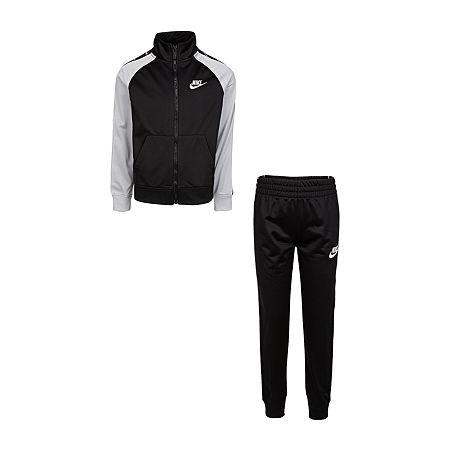 Nike Little Boys 2-pc. Track Suit, 4 , Black