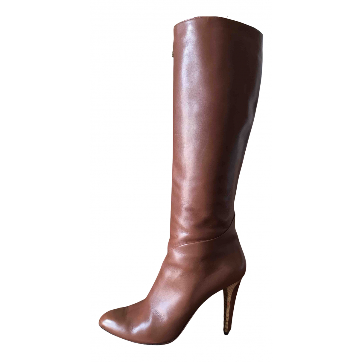 Jimmy Choo N Brown Leather Boots for Women 40 EU