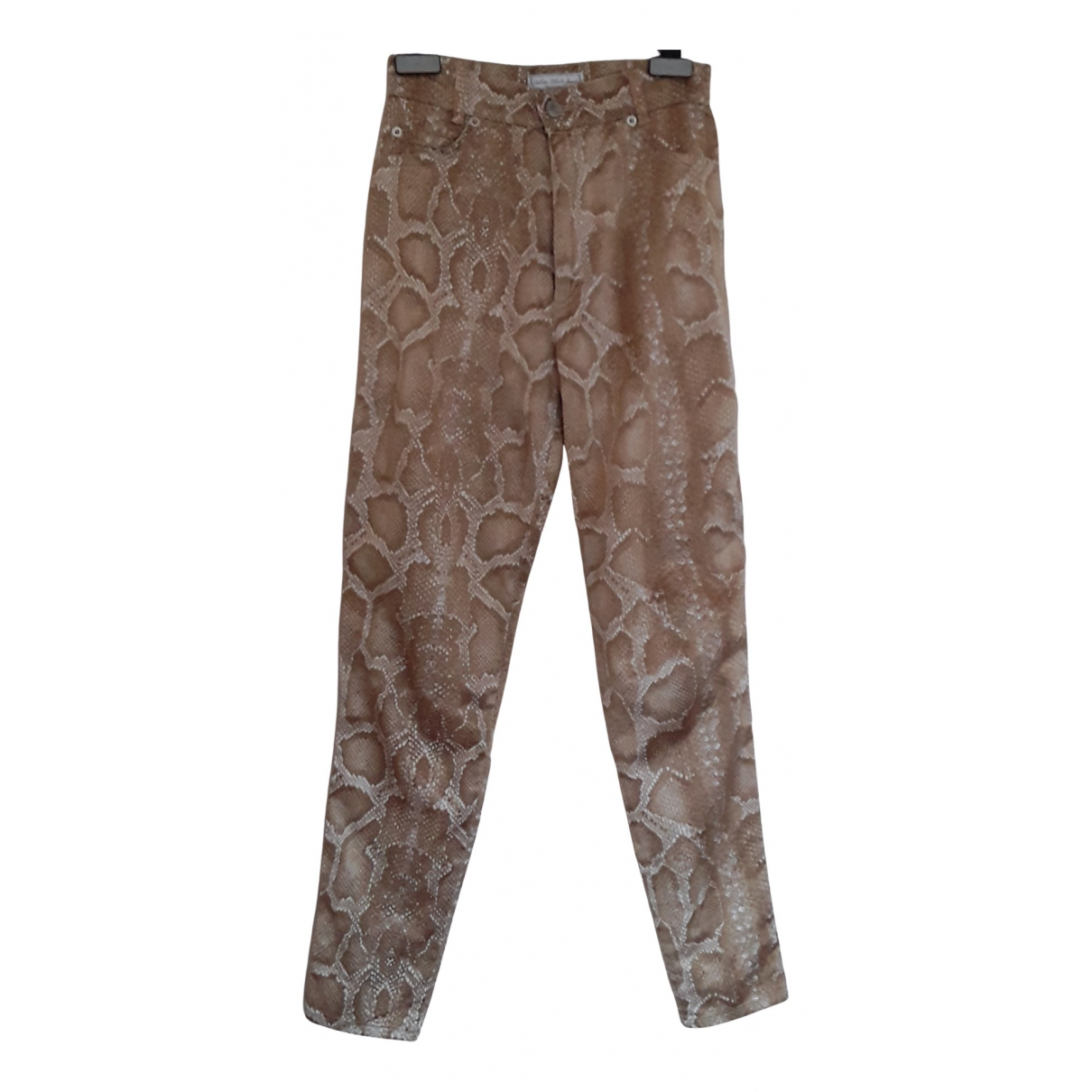 Non Signé / Unsigned N Beige Cotton Trousers for Women 42 IT