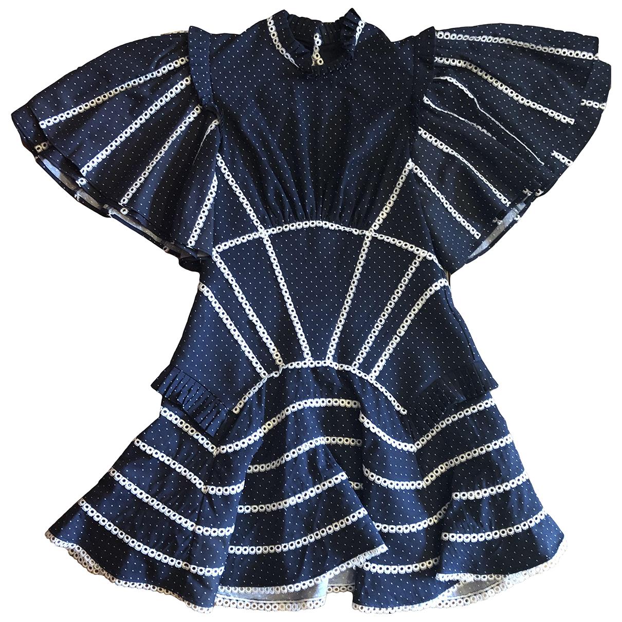 Acler \N Kleid in  Marine Baumwolle - Elasthan