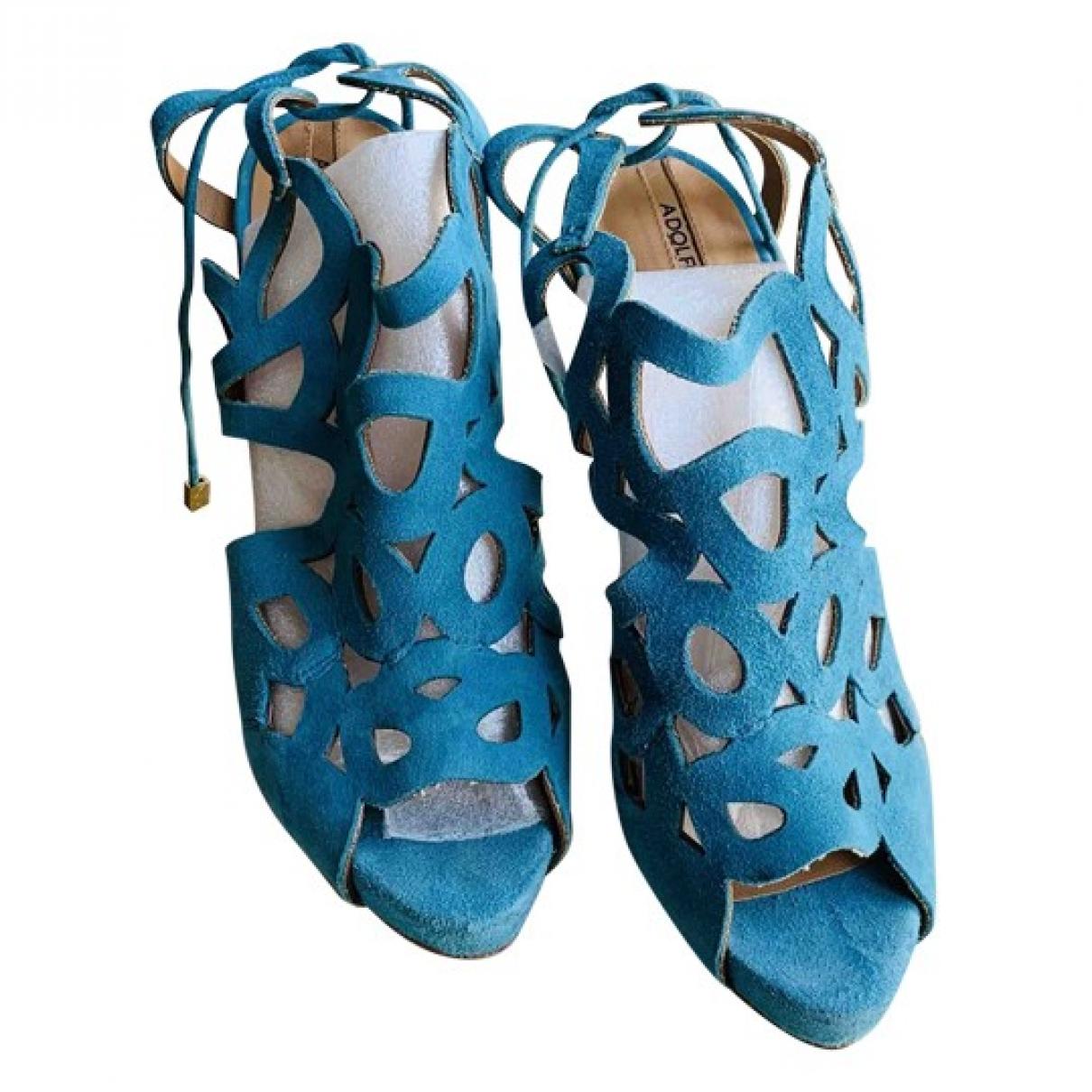 Adolfo Dominguez \N Blue Suede Sandals for Women 40 EU