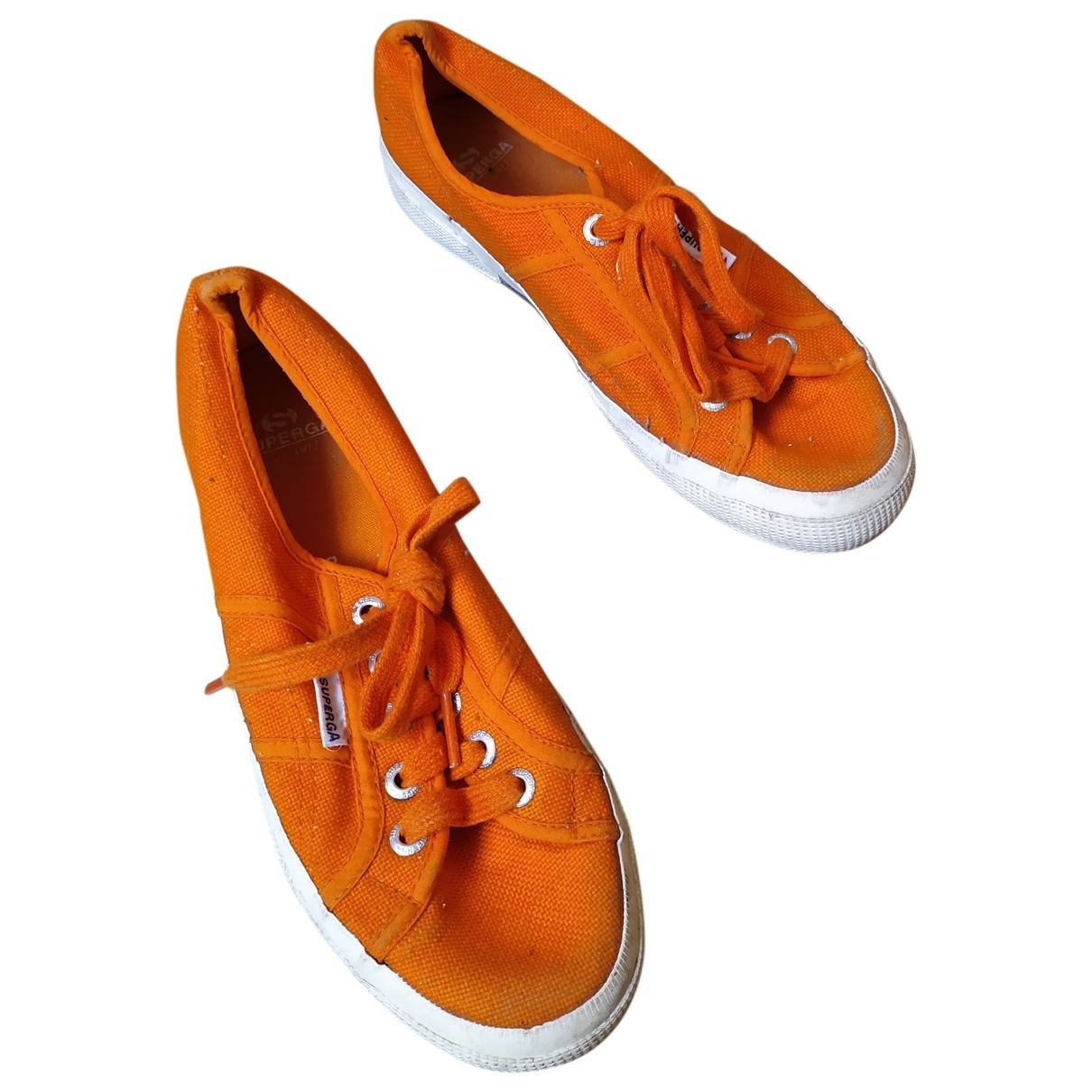 Superga - Baskets   pour femme en toile - orange