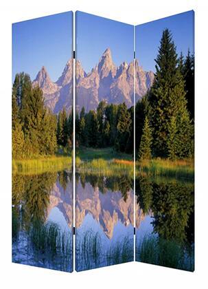 274633 1 x 48 x 72 Multi-Color  Wood  Canvas  Mountain Peaks -