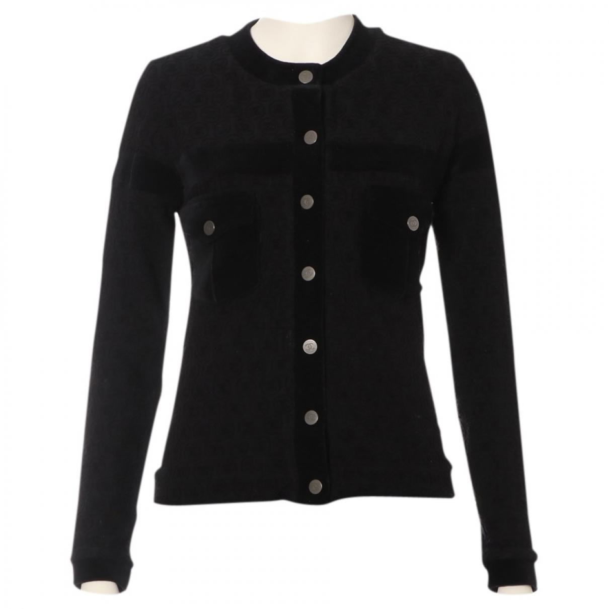 Chanel - Top   pour femme en velours - noir