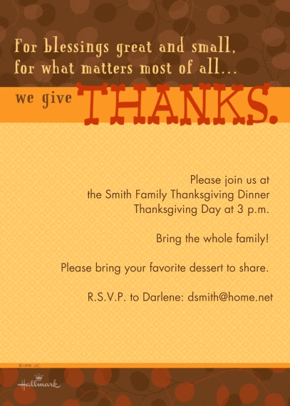 Thanksgiving Photo Cards Flat Glossy Photo Paper Cards with Envelopes, 5x7, Card & Stationery -We Give Thanks