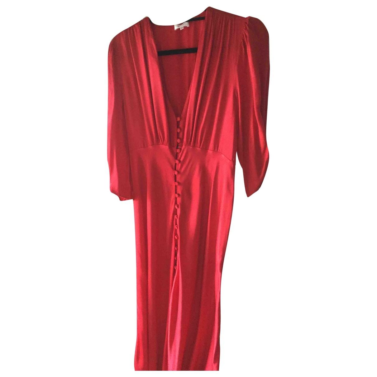 Ghost London \N Kleid in  Rot Viskose