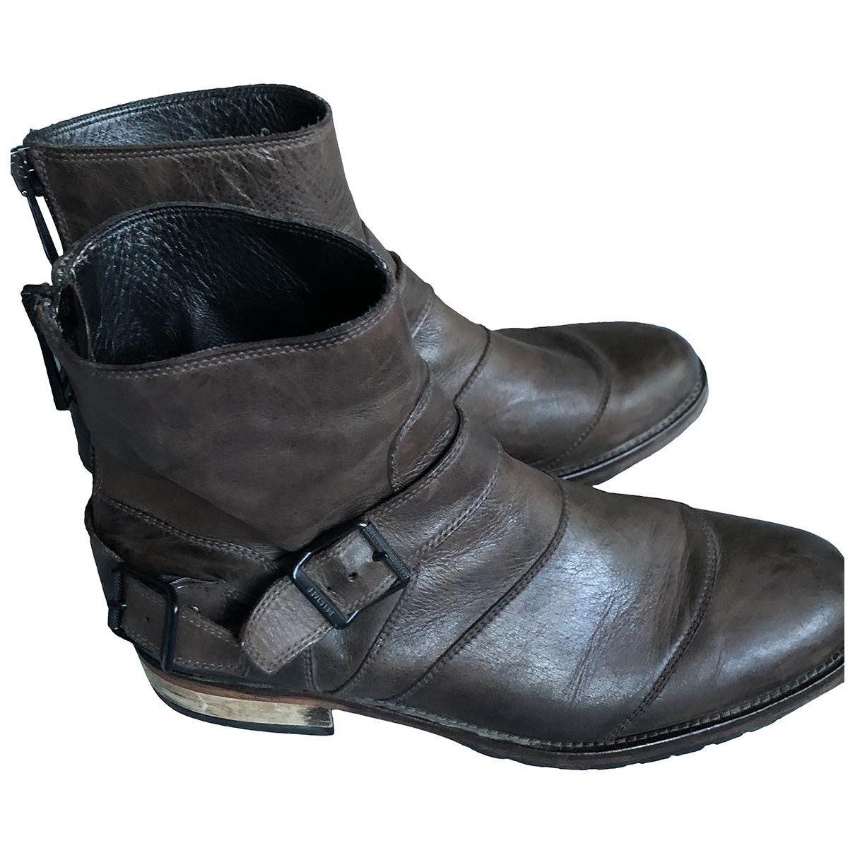 Belstaff \N Brown Leather Boots for Men 44 EU