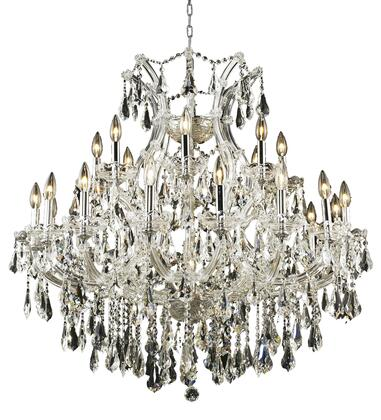 2801D36C/SS 2801 Maria Theresa Collection Hanging Fixture D36in H36in Lt: 24+1 Chrome Finish (Swarovski Strass/Elements