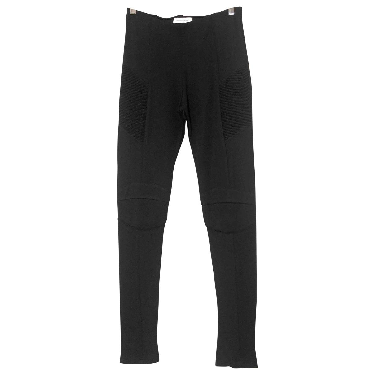Pierre Balmain \N Black Trousers for Women 44 IT