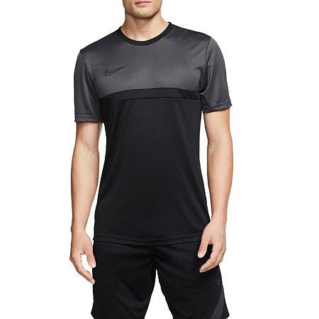 Nike Mens Crew Neck Short Sleeve T-Shirt, Medium , Black