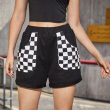 Checkerboard Pocket Shorts