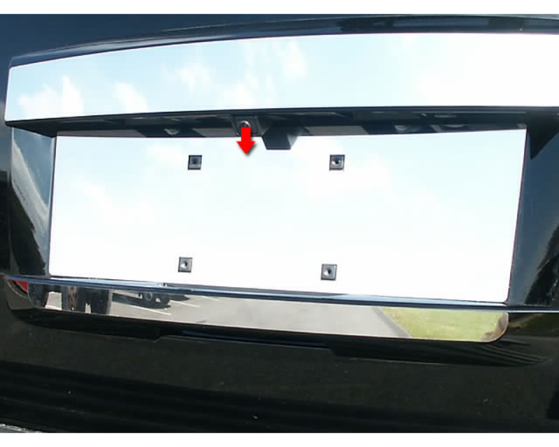 QAA Stainless License Plate Bezel 1Pc 2007-2014 GMC Yukon