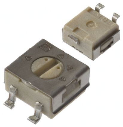 Bourns 500kΩ, SMD Trimmer Potentiometer 0.25W Top Adjust , 3314 (10)