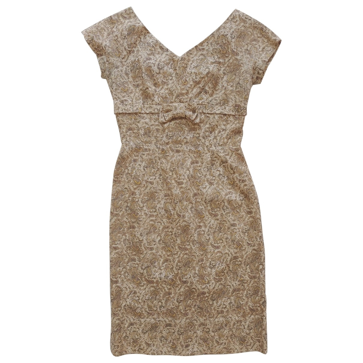 Non Signe / Unsigned \N Kleid in  Gold Spitze