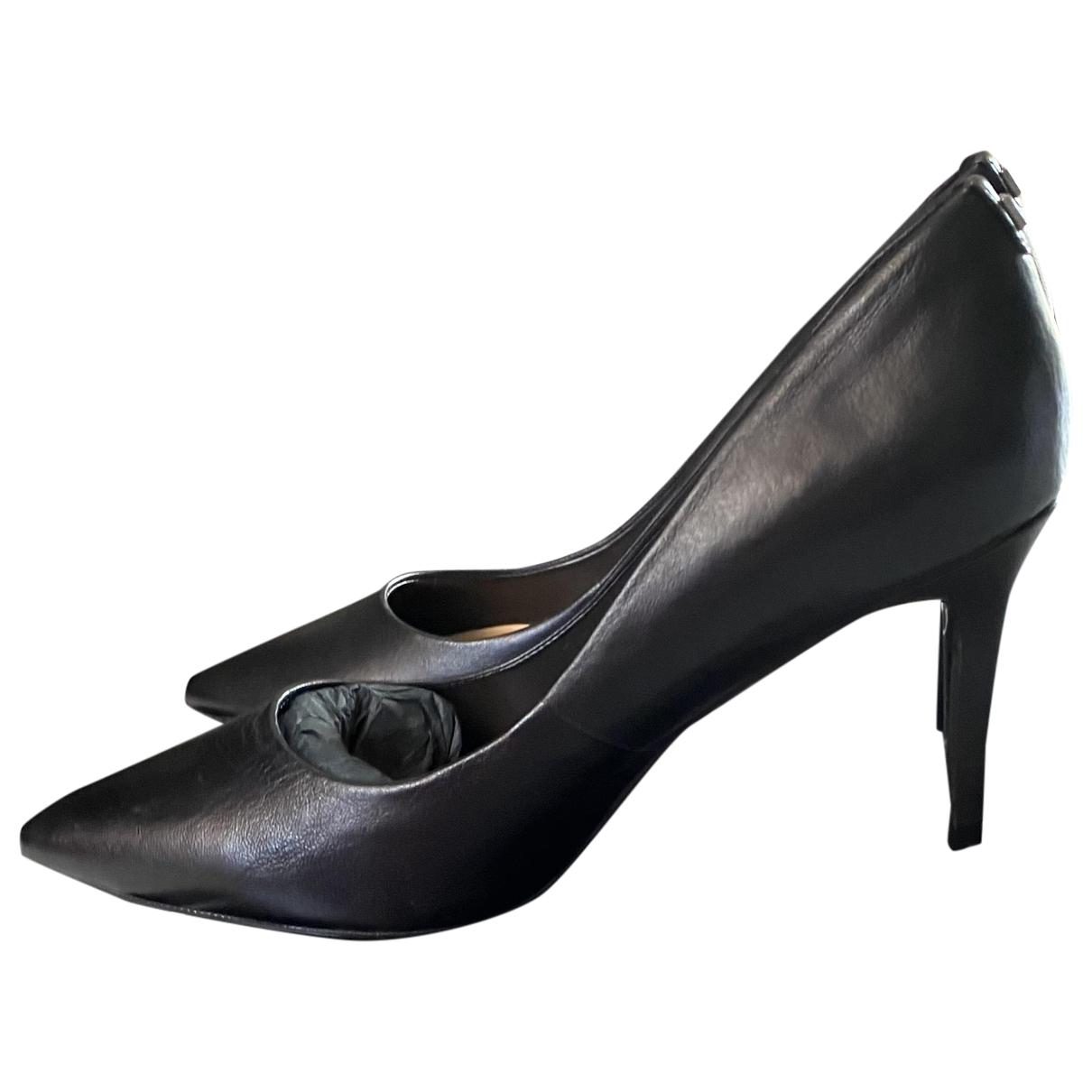 Karl Lagerfeld \N Black Leather Heels for Women 36 EU