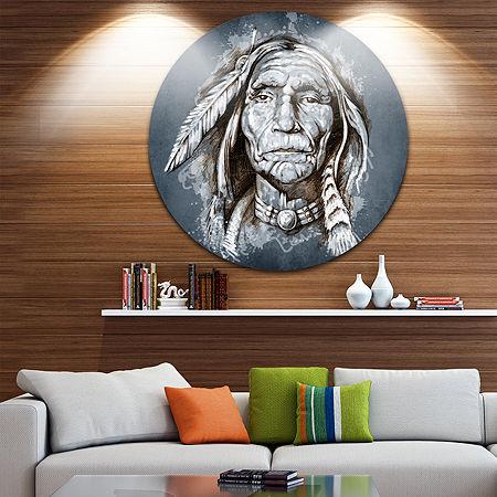 Designart Metal Wall Art, One Size , Blue