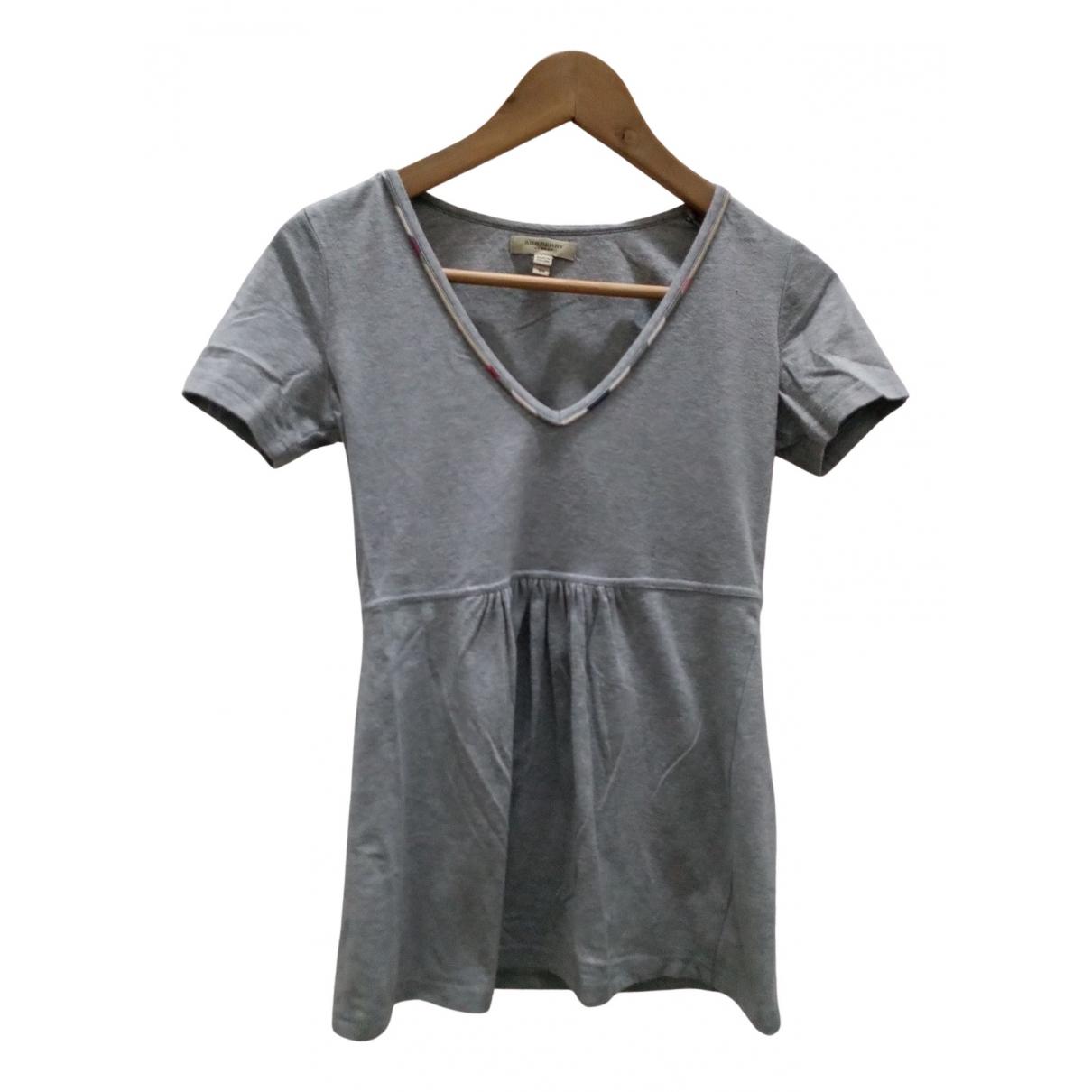 Burberry - Pull   pour femme en coton - gris