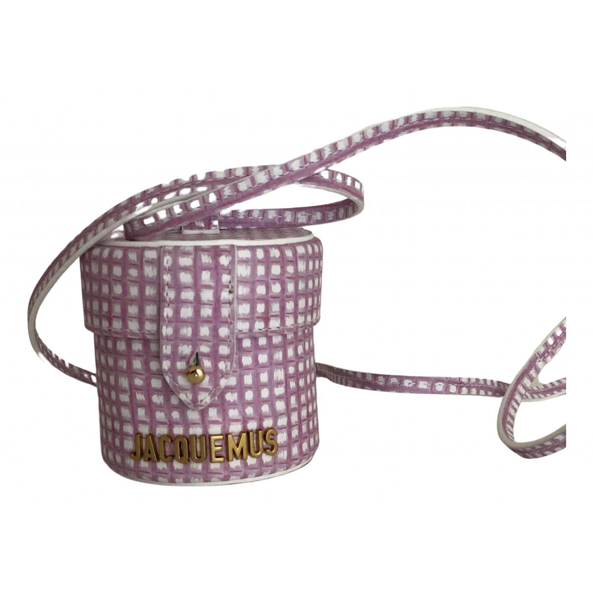 Jacquemus Le Vanity Pink Leather handbag for Women N