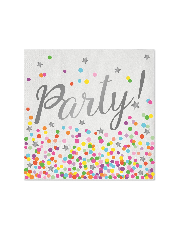 Servietten Party 16 Stk. Farbe: weiss