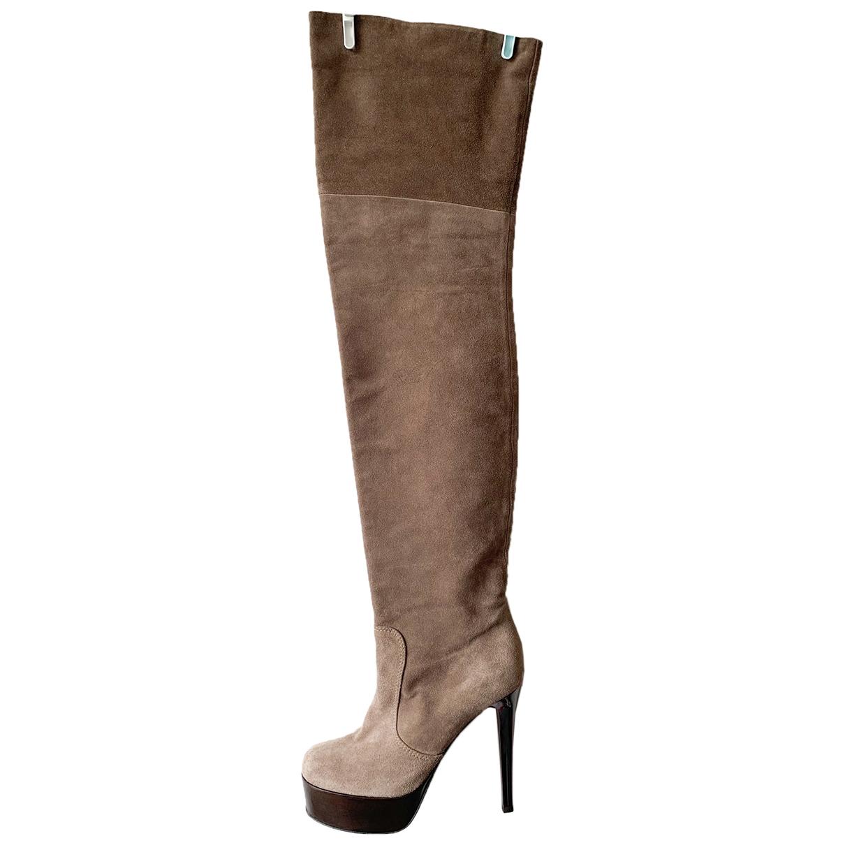 Giuseppe Zanotti \N Grey Suede Boots for Women 37 EU