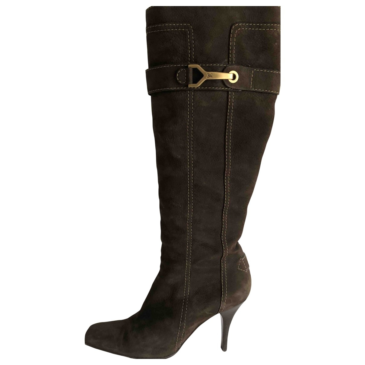 Louis Vuitton \N Brown Suede Boots for Women 39 EU