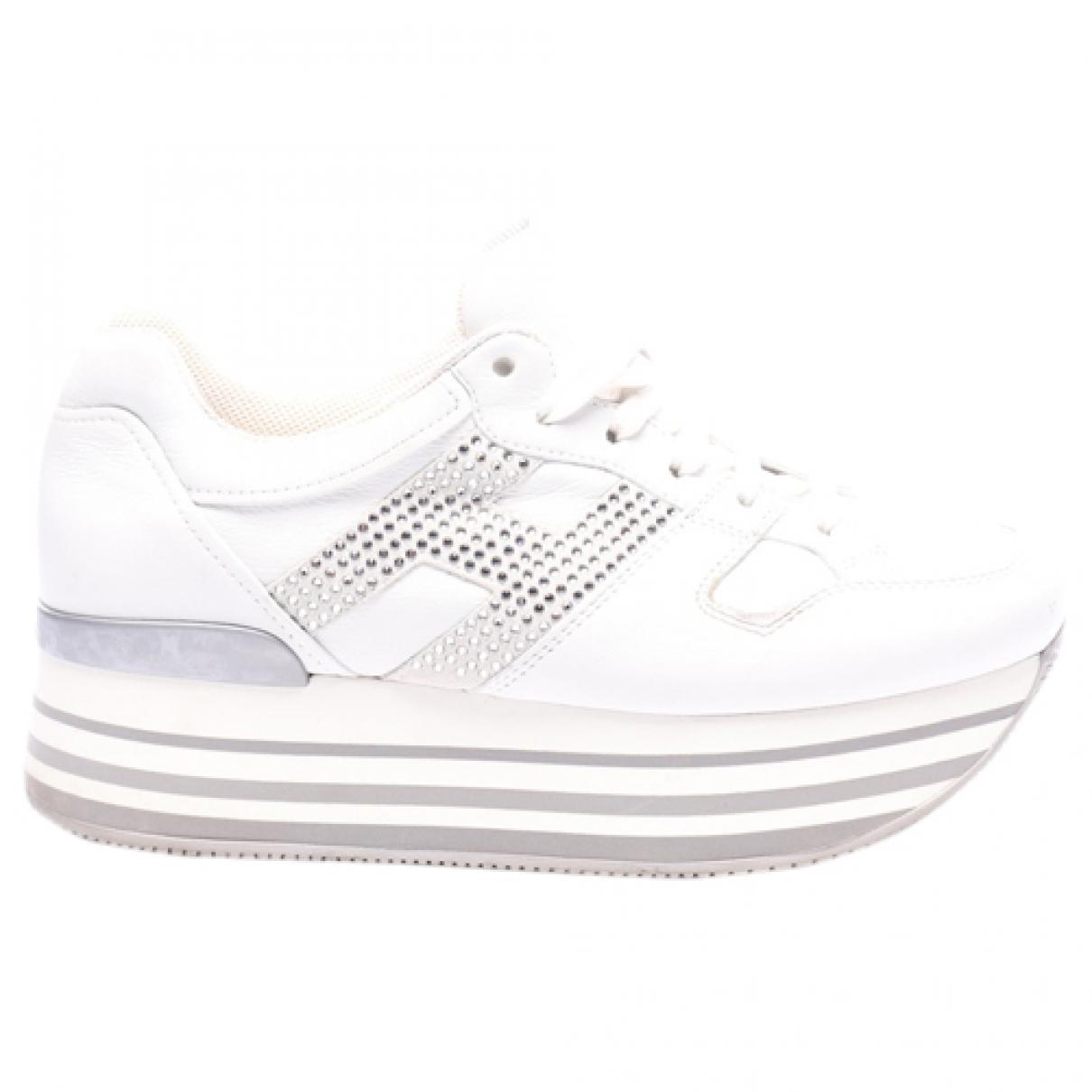 Hogan - Baskets   pour femme en cuir - blanc