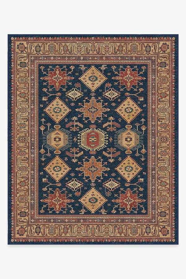 Washable Rug Cover & Pad | Cambria Sapphire Rug | Stain-Resistant | Ruggable | 8'x10'