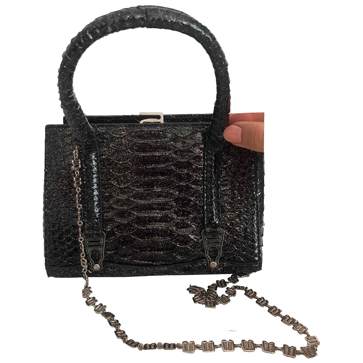 La Perla \N Black Python handbag for Women \N