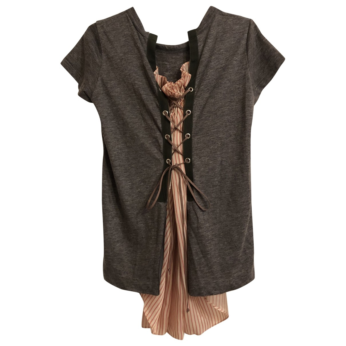Sacai - Top   pour femme en lin - gris