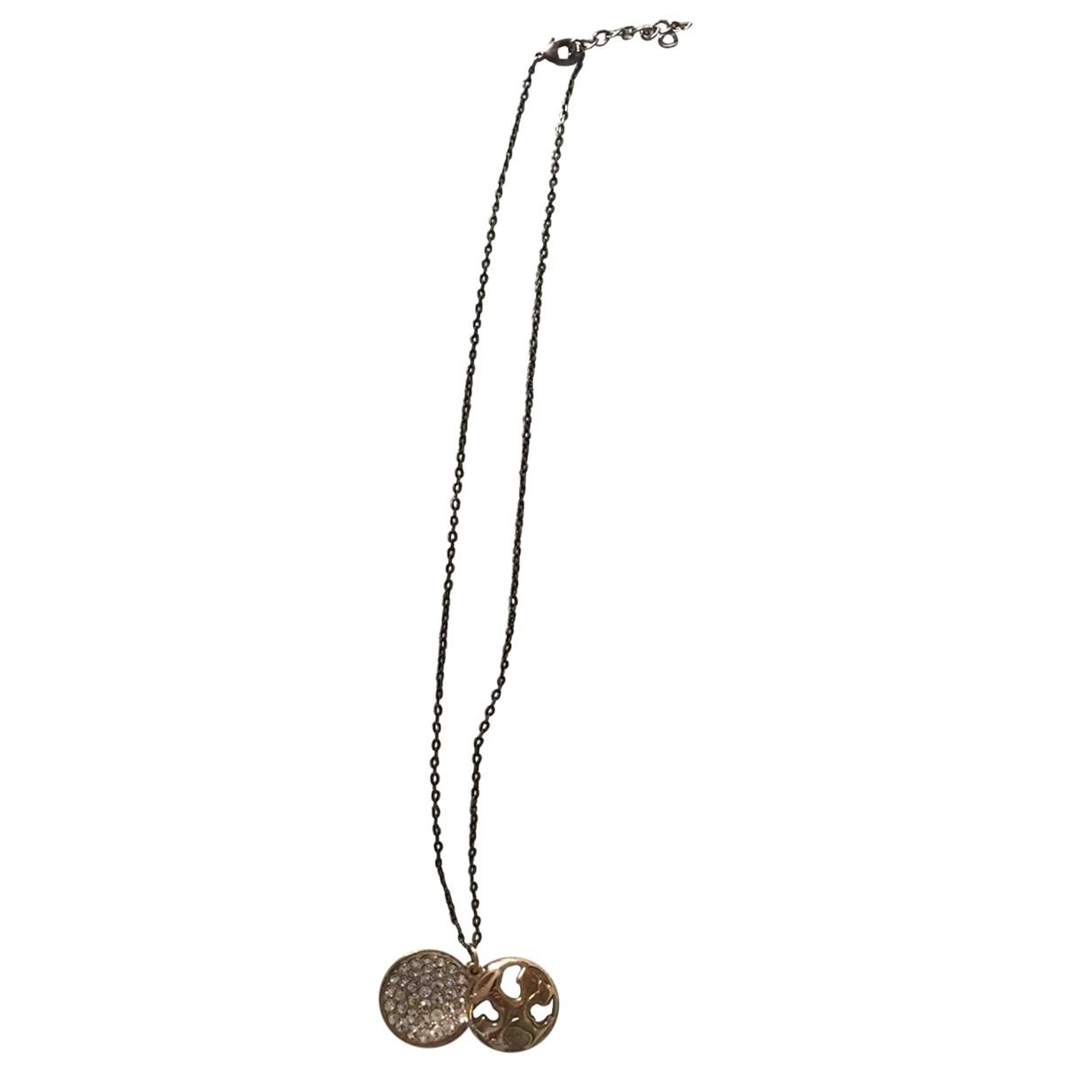 - Collier Art Deco pour femme en acier - dore