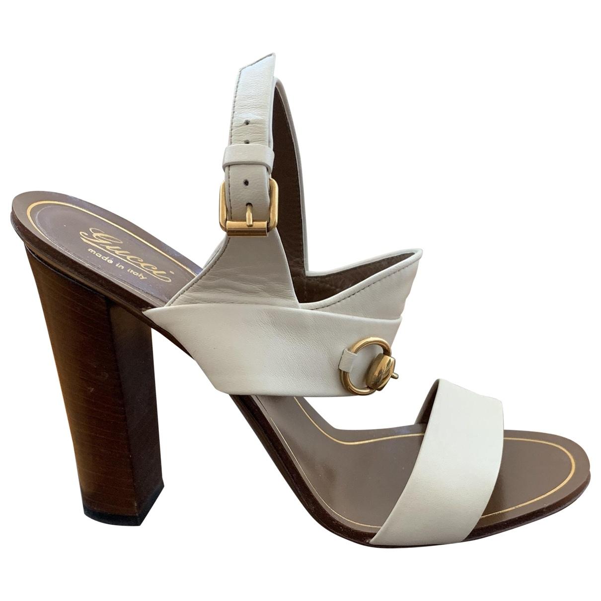 Gucci \N Beige Leather Sandals for Women 39 EU