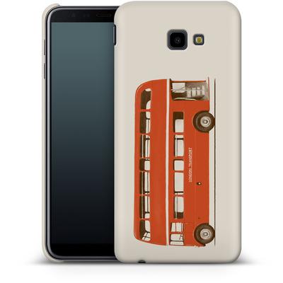 Samsung Galaxy J4 Plus Smartphone Huelle - Red London Bus von Florent Bodart