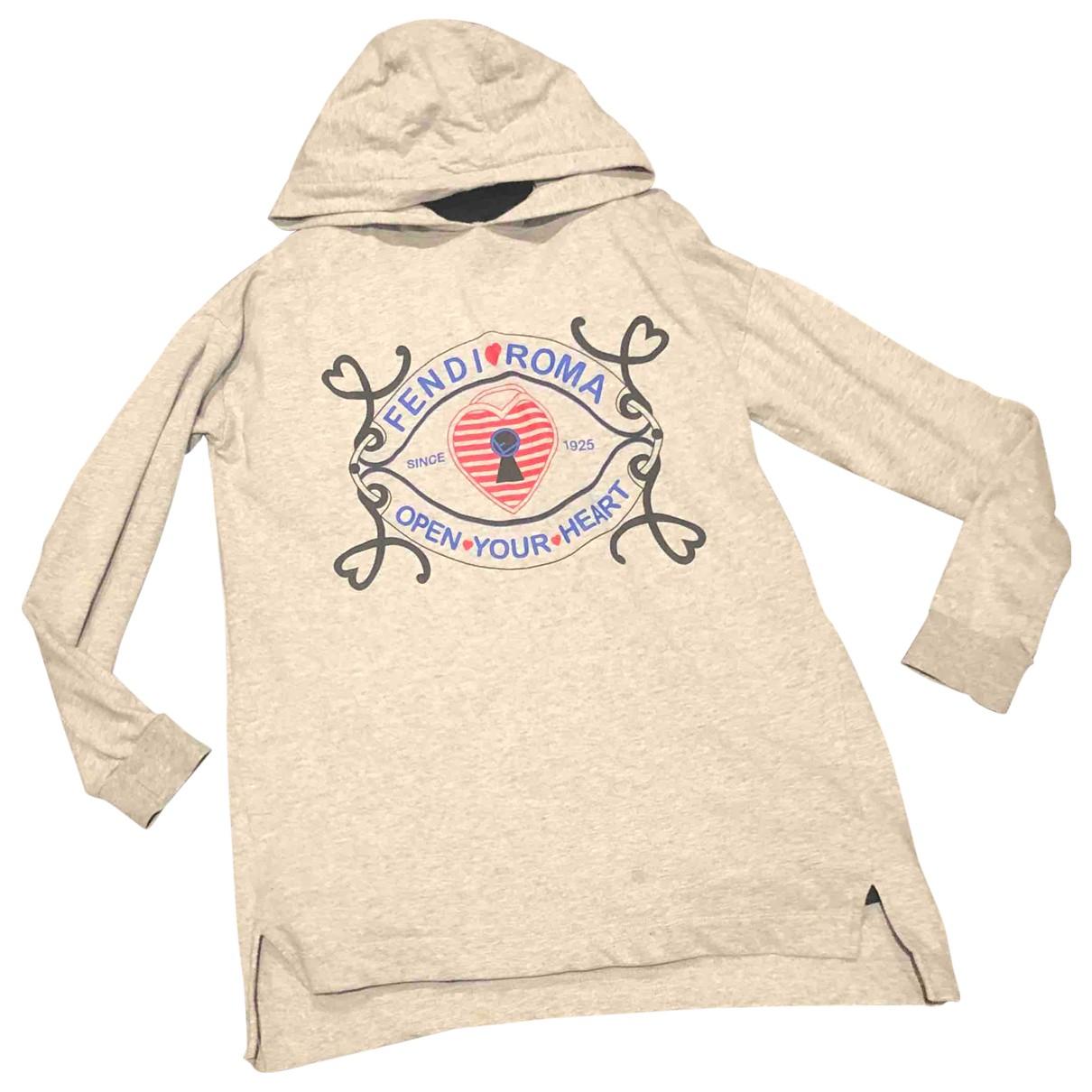 Fendi - Robe    pour enfant en coton - gris