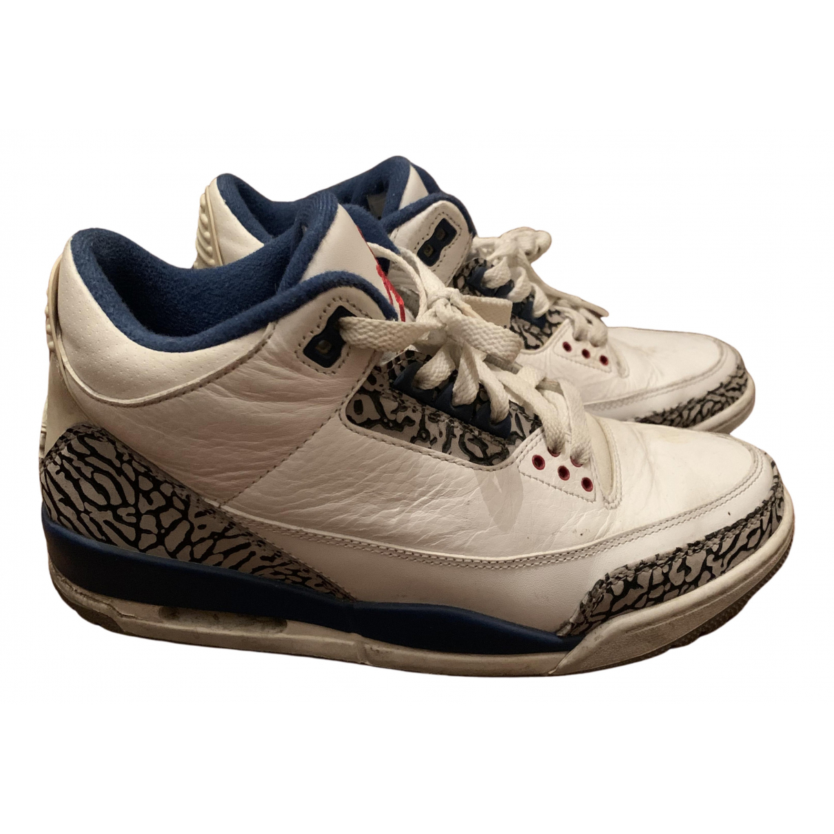 Jordan - Baskets Air Jordan 3 pour homme en cuir - blanc