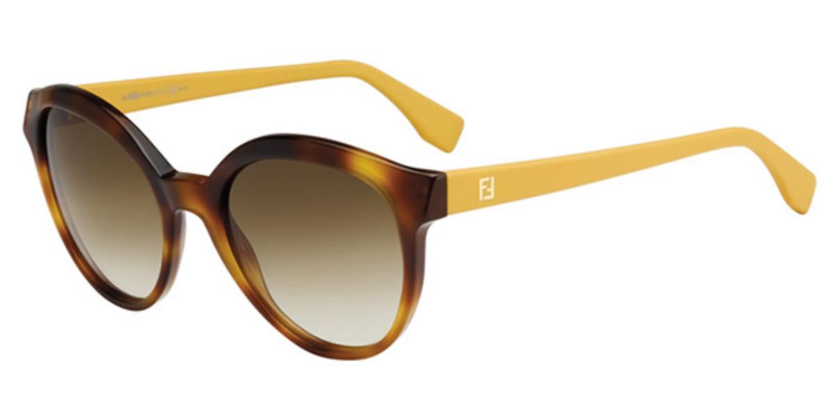 Fendi FF 0045/S MICROLOGO 7SL/CC Women's Sunglasses Yellow Size 54