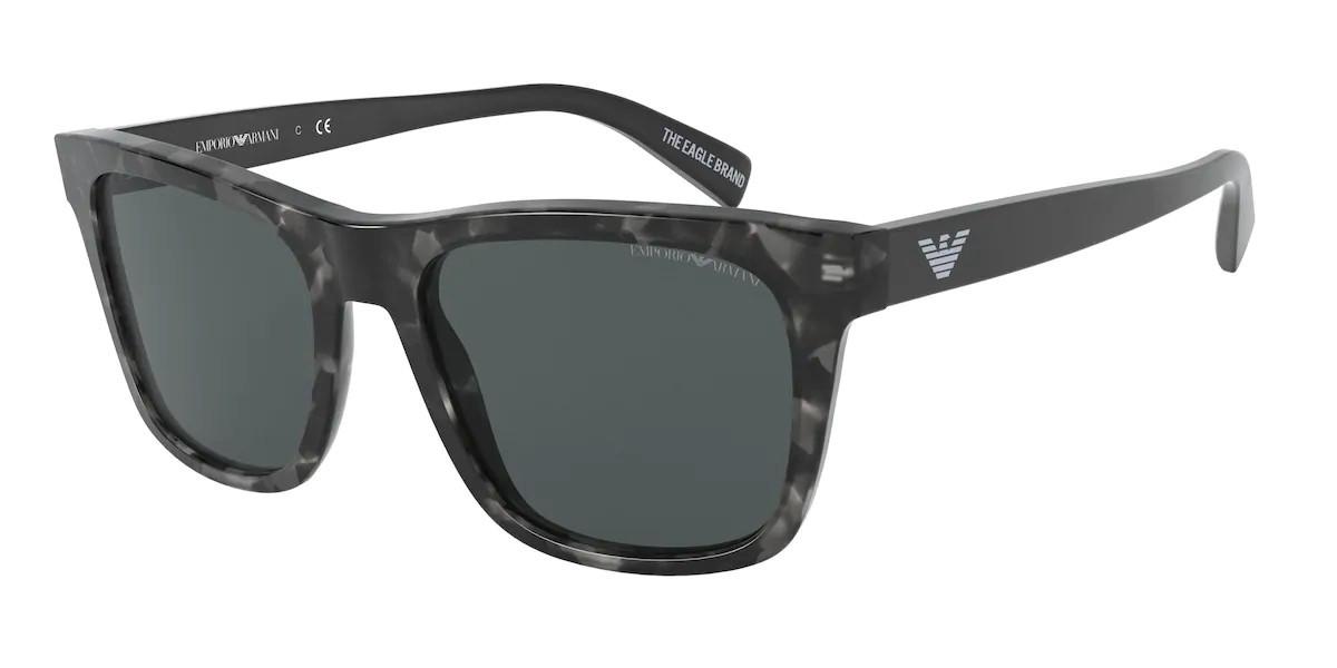 Emporio Armani EA4142F Asian Fit 582487 Men's Sunglasses Black Size 57