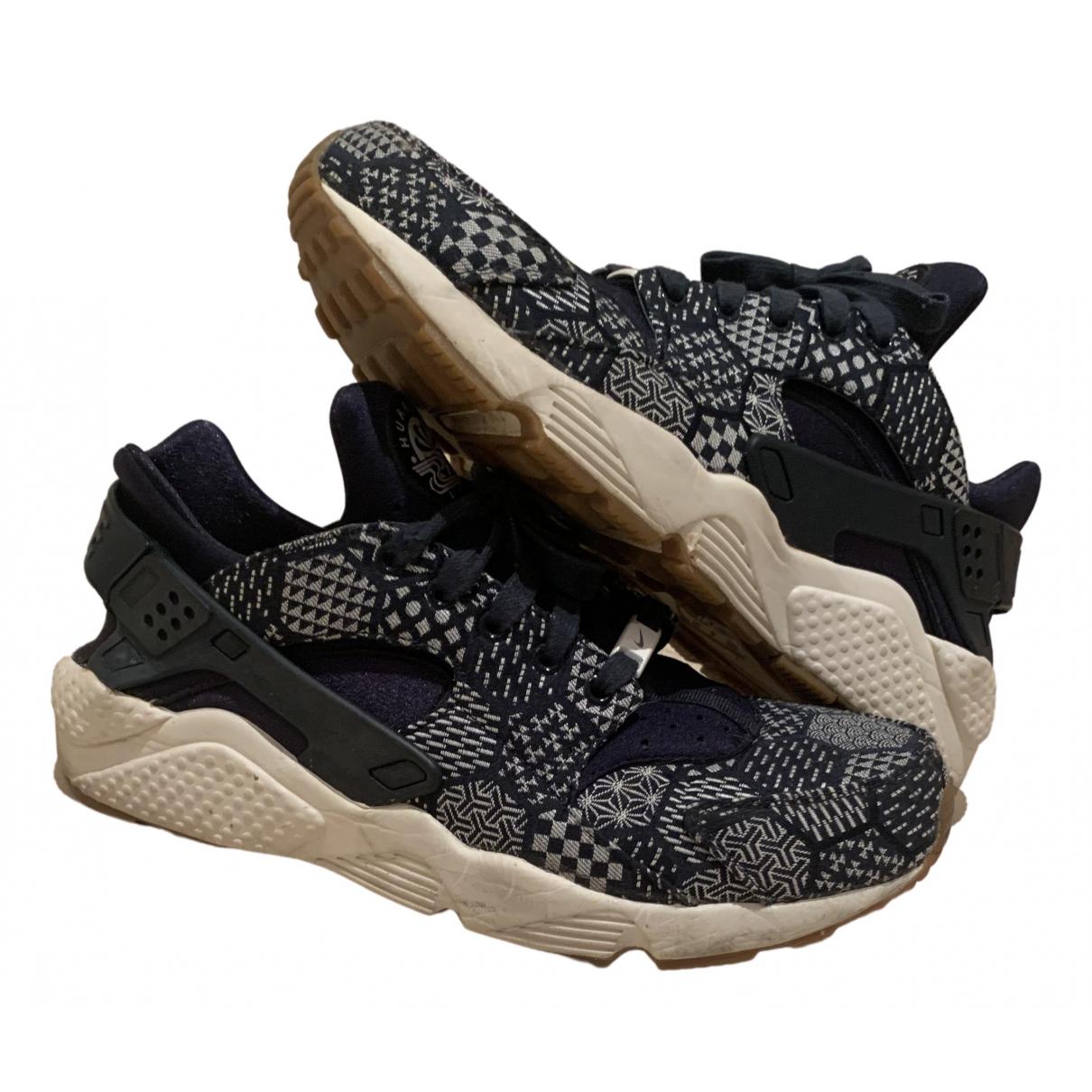 Nike - Baskets Huarache pour homme en toile - bleu