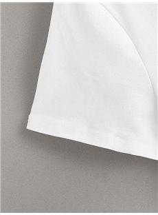 Beddinginn Round Neck Standard Short Sleeve Letter Casual Women's T-Shirt