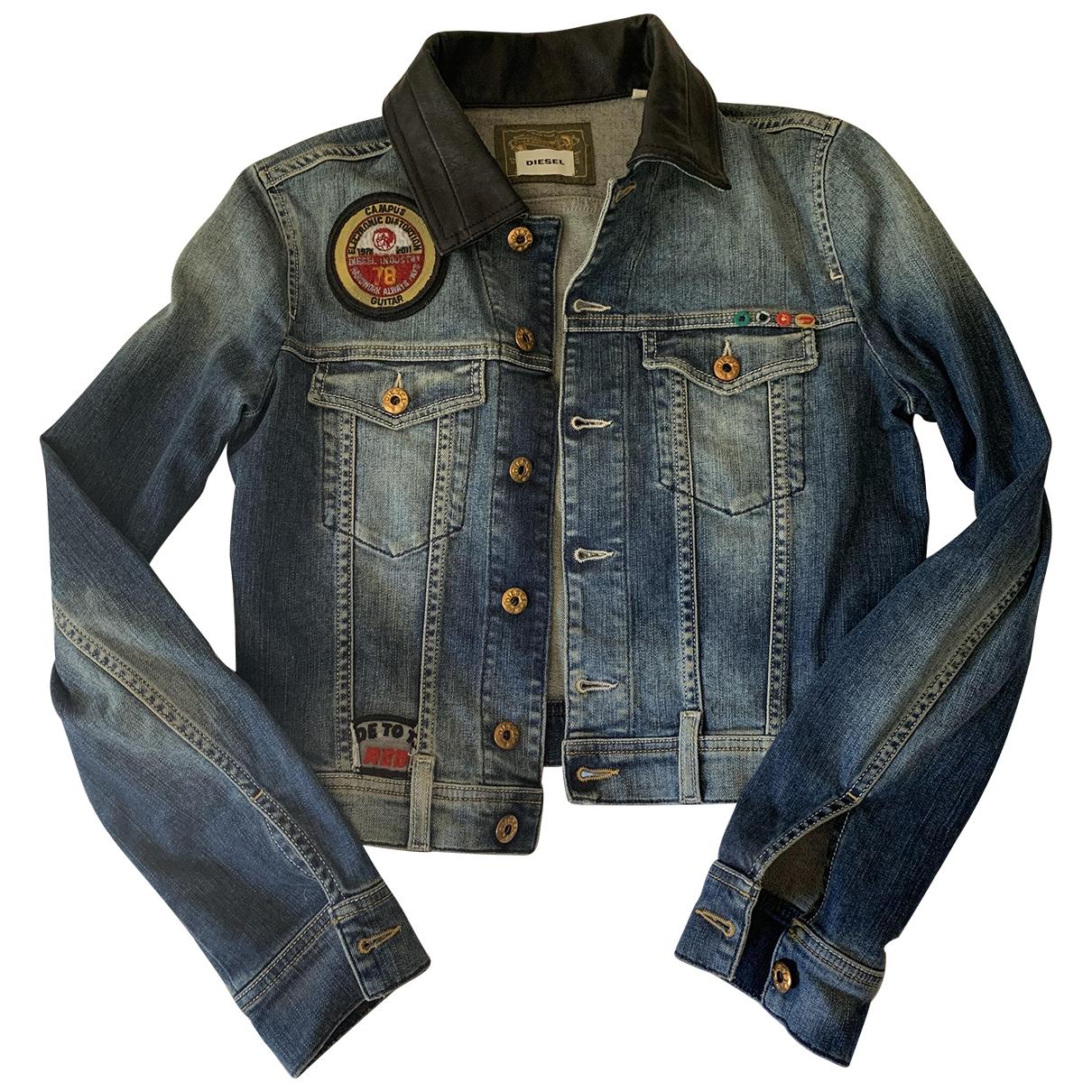 Diesel \N Blue Denim - Jeans jacket for Women S International