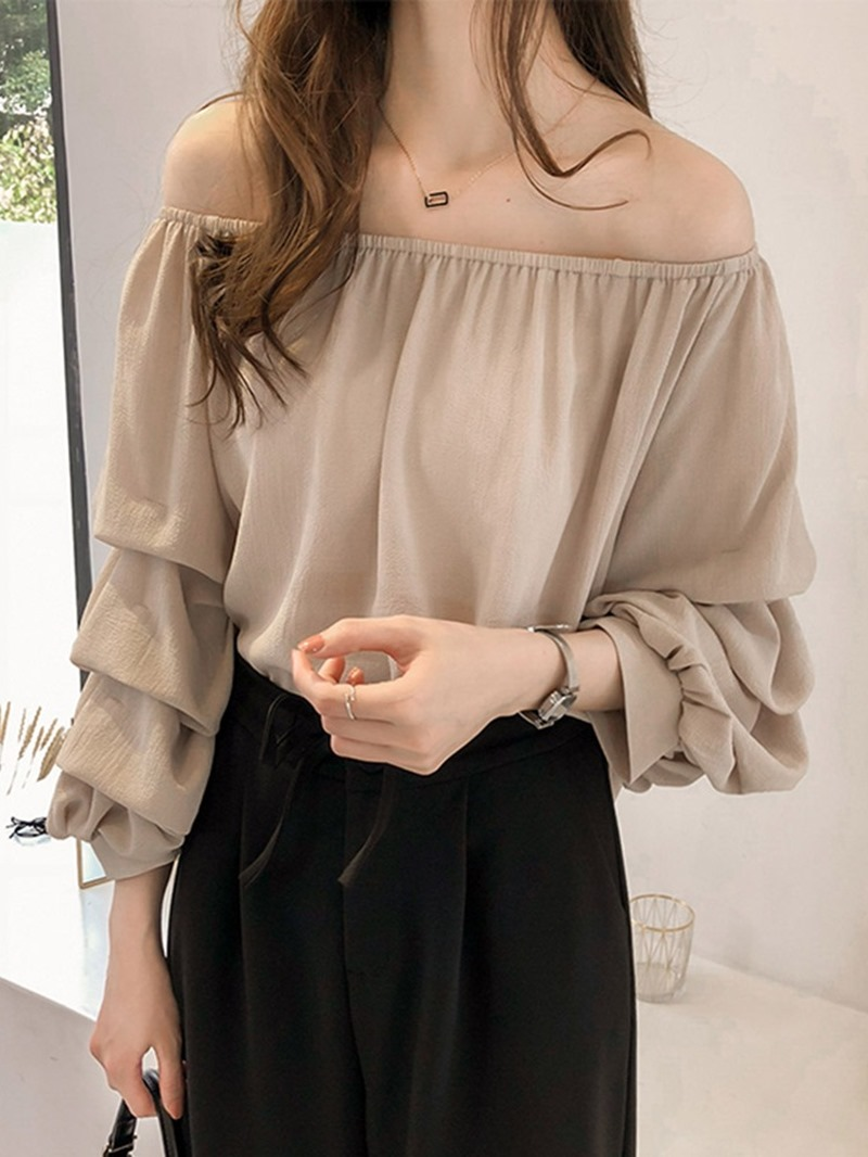 Ericdress Plain Sweet Nine Points Sleeve Blouse