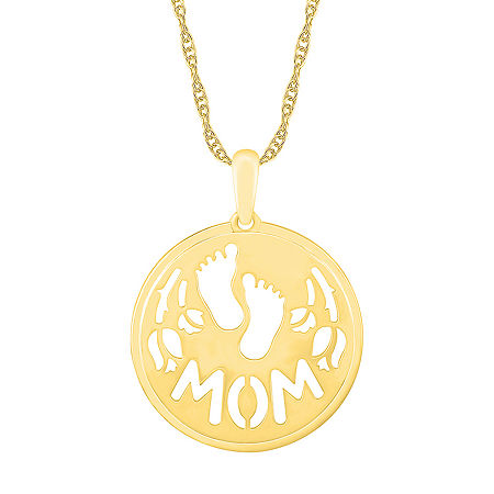 Womens 10K Gold Pendant, One Size , No Color Family