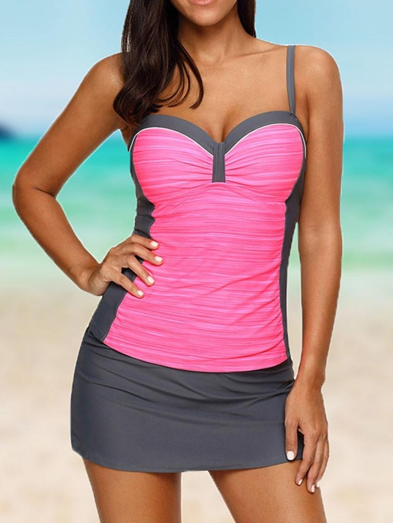 Ericdress Fashion Tankini Set Color Block Women's Swimwear